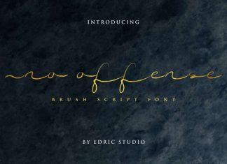 No Offense Brush Script Font