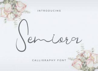 Semiora Calligraphy Font