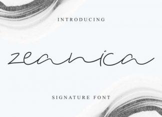 Zeanica Signature Font