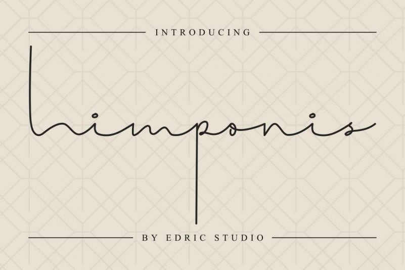 Himponis Signature Font