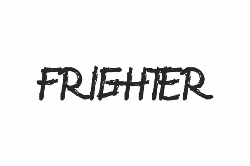 Frighter Unique Display Font