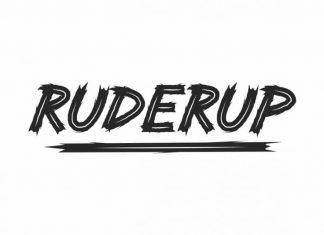 RUDERUP Unique Display Font