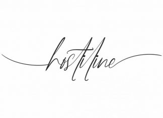 Hostiline Signature Handwriting Font