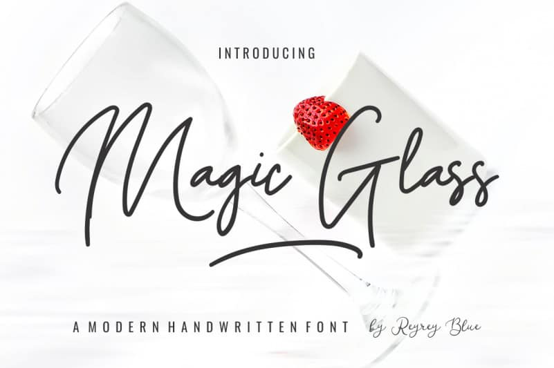 Magic Glass Handwritten Font