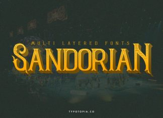 Sandorian Display Font