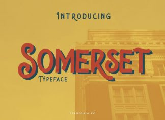 Somerset Display Font