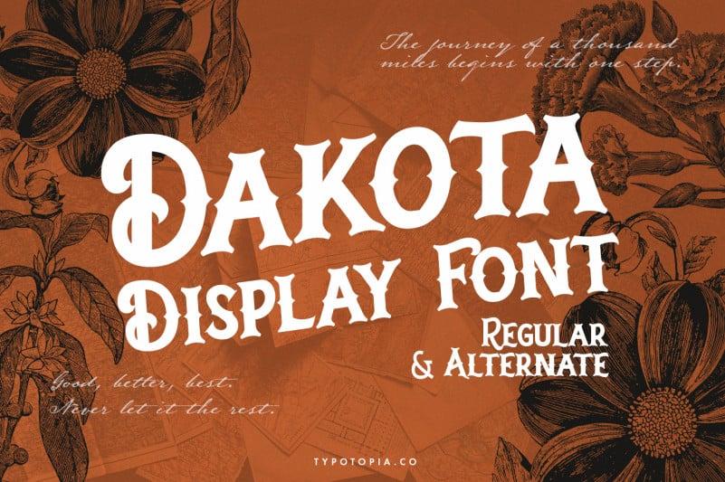 Dakota Display Font