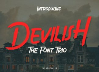 Devilish Brush Font