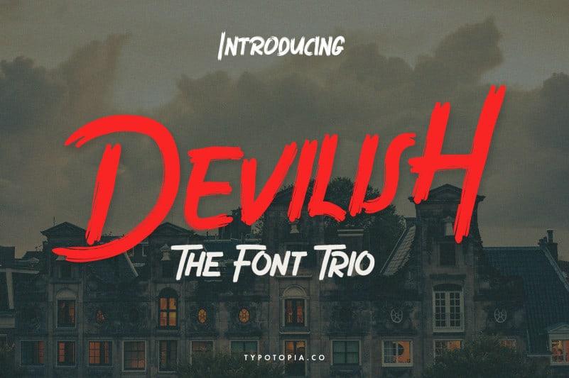 Devilish Brush Font