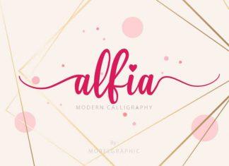 Alfia Calligraphy Font
