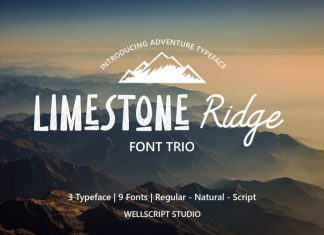 Limestone Ridge – Trio Adventure Font
