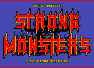 Strong Monsters Display Font