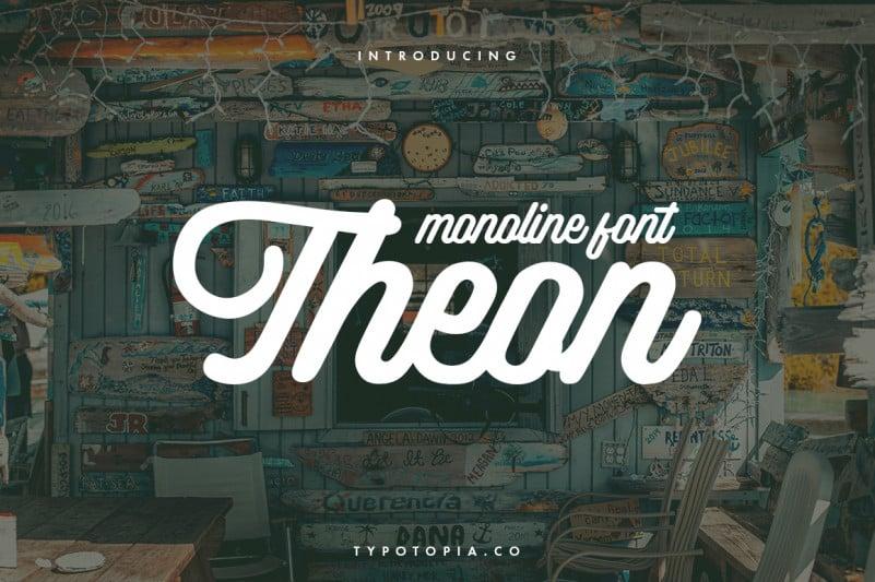 Theon Handwritten Font