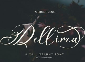Dellima Calligraphy Font