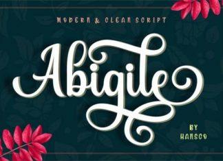 Abigile Calligraphy Font