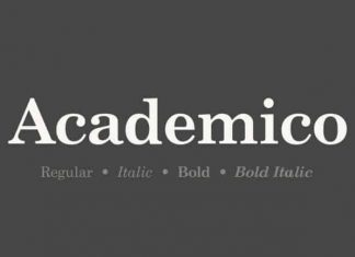 Academico Serif Font