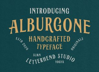Alburgone Display Font
