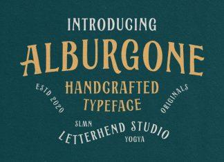 Alburgone Display Font