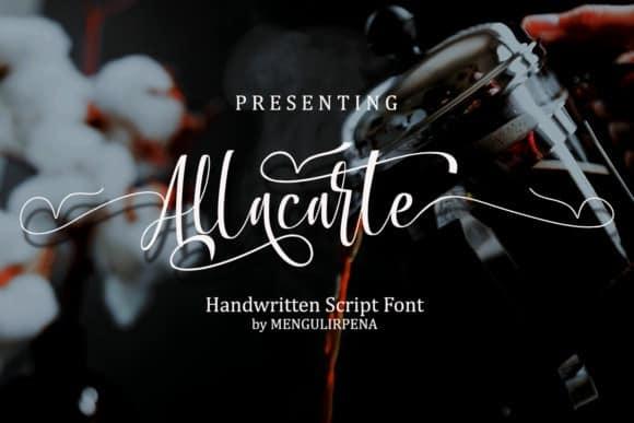 Allacarte Calligraphy Font