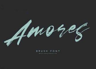 Amores Brush Font