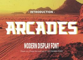 Arcades Display Font