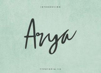 Arya Script Font