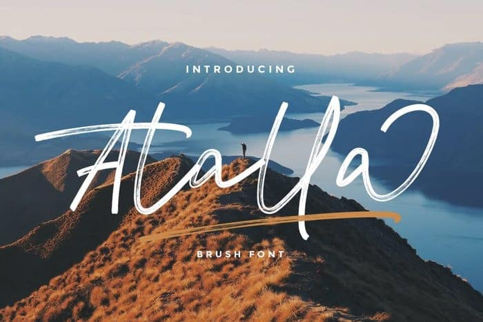 Atalla Brush Font