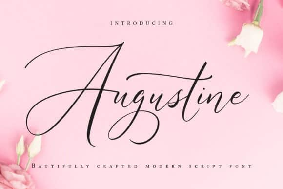 Augustine Calligraphy Font