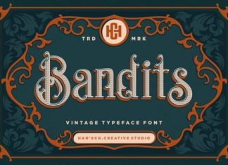 Bandits Display Font