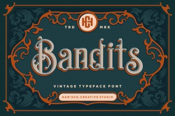 Bandits Display Font