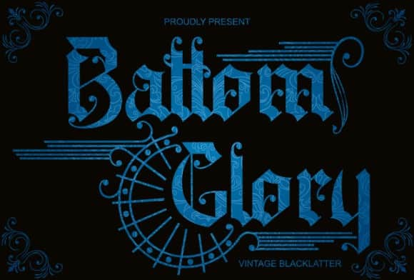 Battom Glory Blackletter Font