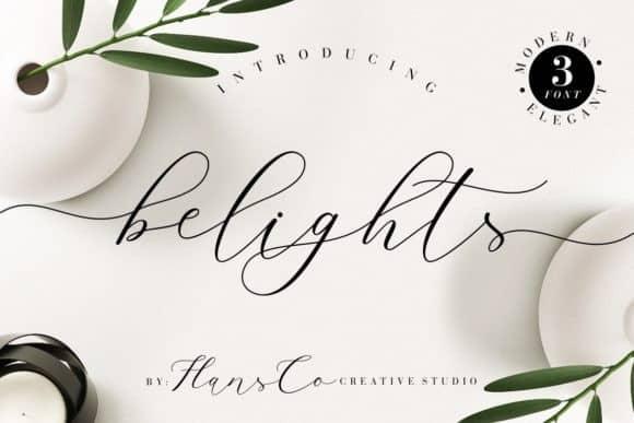 Belights Calligraphy Font