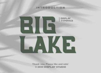 Big Lake Display Font