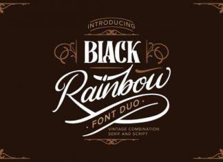 Black Rainbow Display Font