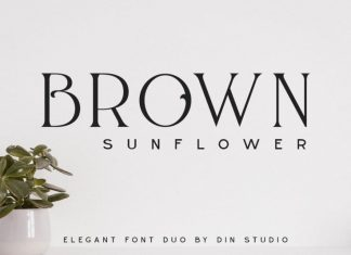 Brown Sunflower Display Font
