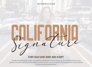 California Signature Font Duo