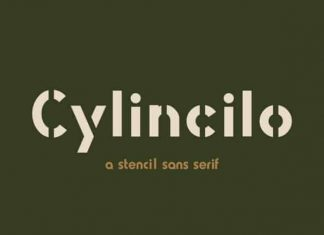 Cylincilo Display Font