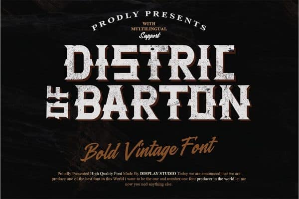 Distric of Barthon Display Font