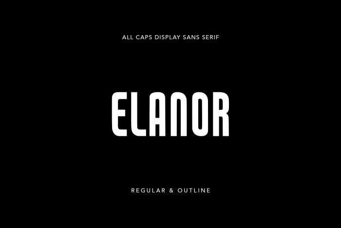 Elanor Display Font