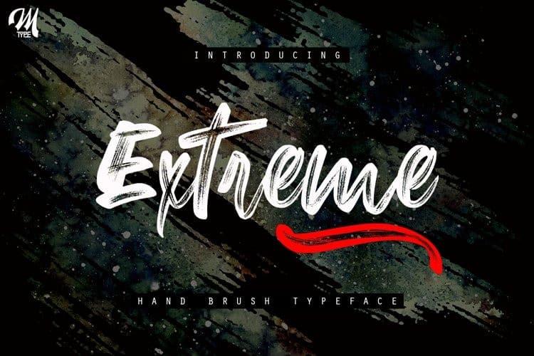 Extreme - Brush Font