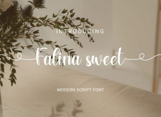 Falina sweet Calligraphy Font