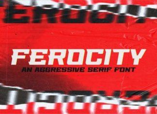 Ferocity Display Font