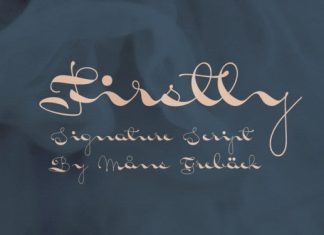 Firstly Script Font