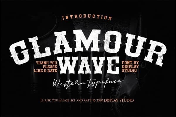 Glamour Wave Display Font