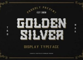 Golden Silver Display Font