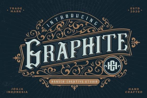 Graphite Blackletter Font
