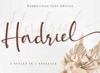 Hadriel Calligraphy Font