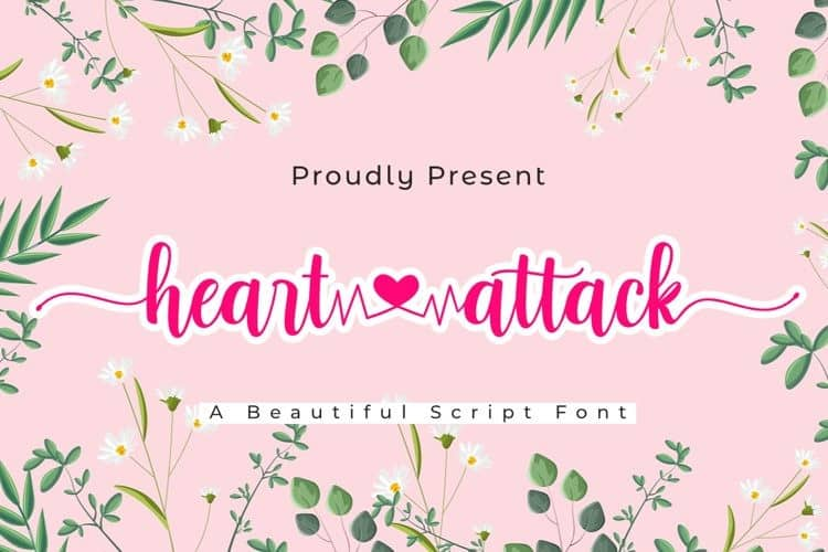 Heart Attack Calligraphy Font