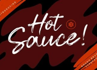 Hot Sauce Brush Font