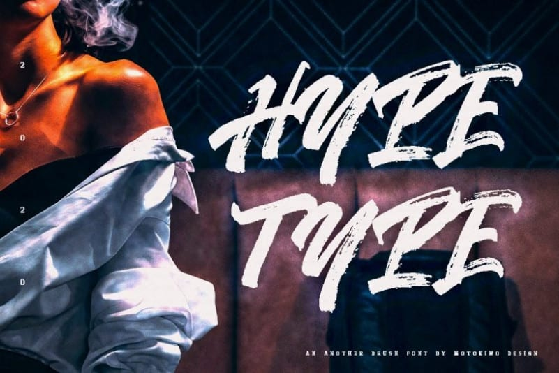 Hypetype Brush Font